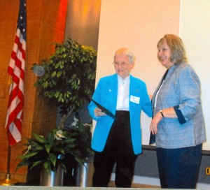 WCGHA President, Mary B. Kegley accepts VGS Commonwealth Award